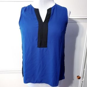 Investments Blue & Black Colorblock Sleeveless Top